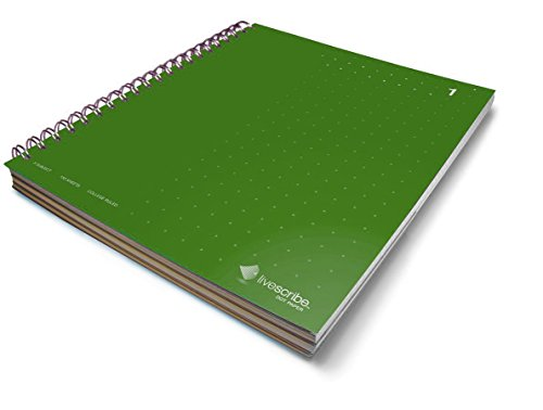 Livescribe 8.5 x 11 3-Subject Notebook #1 (Green) by Livescribe