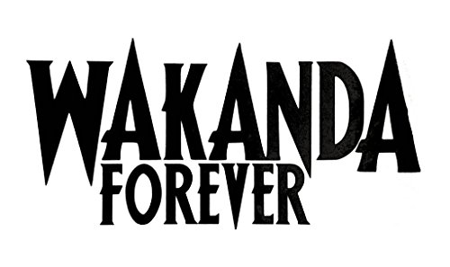 🥇 CCI Wakanda Forever Black Panther Decal Vinyl Sticker|Cars Trucks Vans Walls Laptop| Black |6.5 x 3.25 in|CCI1628