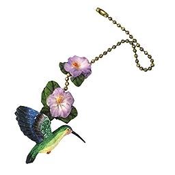 Polystone Hummingbird Fan Pull