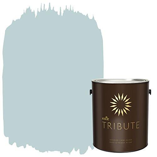 TRIBUTE Interior Semi-Gloss Paint and Primer in One, 1 Gallon, Almost Aqua (TB-52)