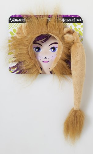 Forum Novelties Women's Lion Costume Accessory Kit, Multi, One Size - Lion Tail And Ears