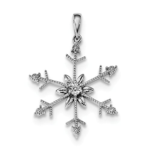 925 Sterling Silver Diamond Snowflake Pendant Charm Necklace Winter Fine Jewelry Gifts For Women For Her