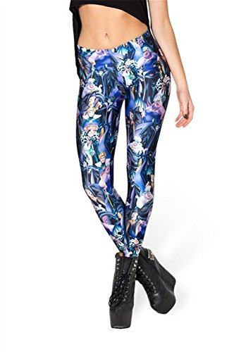 Zanuce Women's 2015 NEW Anime Print Pattern Tight Stretch Leggings(Disney Villains), 808, One Size]()