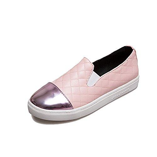 Couleurs Chaussures Légeres Rond Super Tire Agoolar fibre Femme Mélangées Rose HYx8qY50w