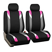 FH Group FB033PINK102 Bucket Seat Cover (Modernistic Airbag Compatible (Set of 2) Pink)