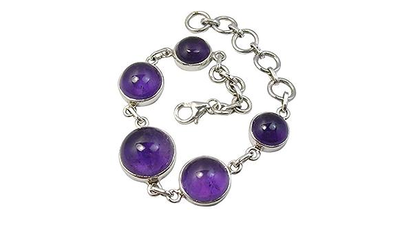 Beautiful Genuine Amethyst Double Halo Bangle Bracelet Sterling Silver Bracelet Jewelry Gift Wife Mom Fiance Valentine February Birthstone