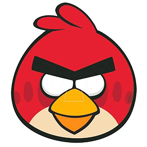 Amscan Angry Birds Birthday Party Paper Masks, Red