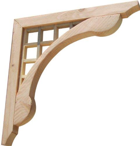 SamsGazebos Designer Wood Corbels, 2-Pack, Grid Lattice, 16