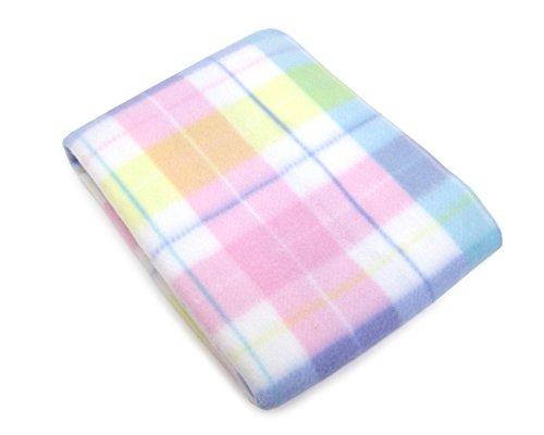 - NoJo Pastel Plaid Fleece Baby Blanket, Aqua/Pink/Yellow/Green/Blue