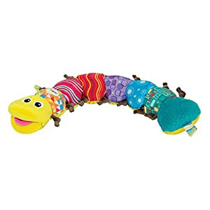 LAMAZE - Musical Inchworm Toy, Encourage Tummy Time while Baby Learns and Plays with Music, Bright Colors and Fun Textures, 0 Months and Older