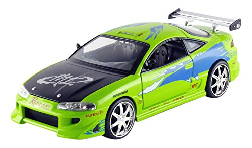 Jada Toys Fast & Furious Diecast Brian's Mitsubishi Eclipse Vehicle (1:24 Scale)