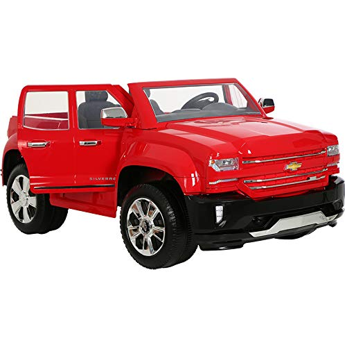 41%2BFhicPiCL - Rollplay 12 Volt Chevy Silverado Truck Ride On Toy, Battery-Powered Kid's Ride On Car - Red