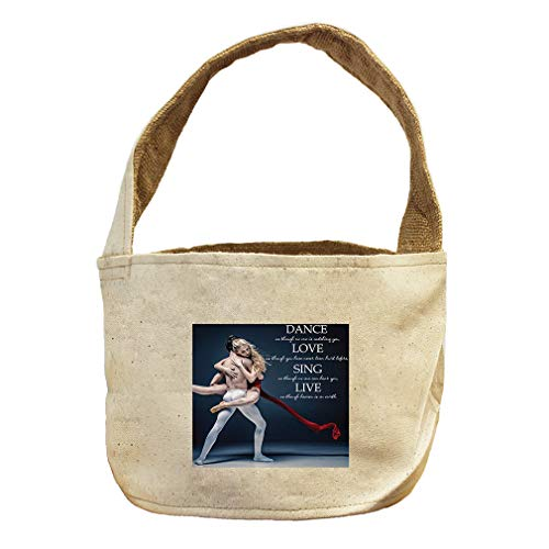 Style in Print Dance, Love, Sing Like Heaven On Earth #1 Canvas and Burlap Storage Basket by Style in Print (Image #1)