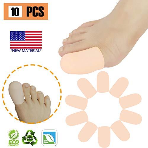 Gel Toe Caps Toe protectors Toe Sleeves,NEW MATERIAL, for Blisters, Corns, Hammer Toes, Ingrown Toenails, Toenails Loss, Friction Pain Relief and More (BIG TOE CAPS)
