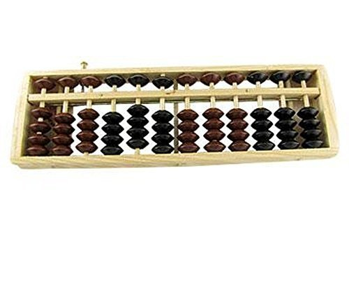 HugeStore Vintage Wooden Wood Abacus Soroban for Kids Math Educational Learning Tools by HugeStore