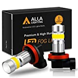 Alfa Romeo Audio & Electronics - Alla Lighting 2800lm Xtreme Super Bright H16 LED Bulbs Fog Light High Illumination COB-72 LED H16 Bulb H11 H8 H16 Fog Lights Lamp Replacement - 3000K Amber Yellow