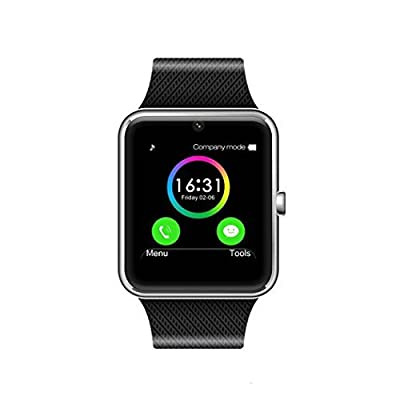 Martha MSRM Smart Watch Call Sync and Handfree for Android 4.2 or above and iPhone 5s/6/6s/7/7s (Silver)