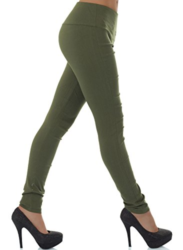 mujer Pantalón malucas para caqui Tubo ZwSqnFWgq