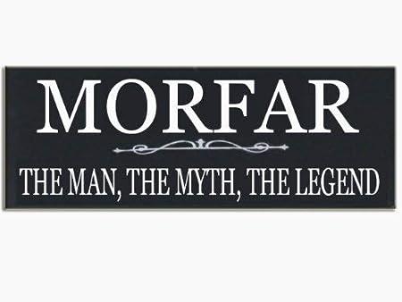 Morfar The Man The Myth The Legend Grandfather - Cartel de ...