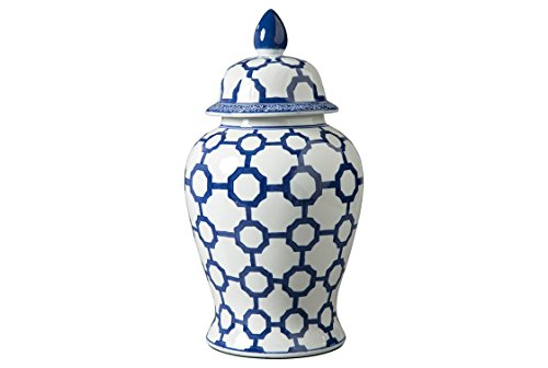 Signature Design by Ashley Dionyhsius Porcelain Jar, Blue/White
