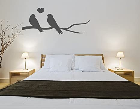Parete Camera Bordeaux : Agapornis su un ramo adesivo da parete per camera da letto soggiorno