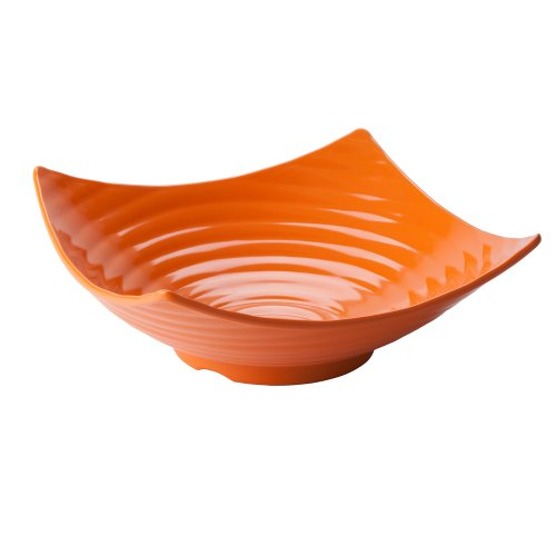 13 In Square Bowl (TableCraft Products MB164X Ribbed Square Bowl, Medium, 13