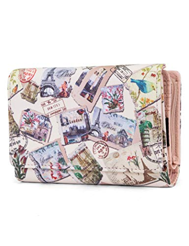Mundi Small Womens RFID Blocking Wallet Compact Trifold Safe Protection Clutch With Change Purse (Halifax)