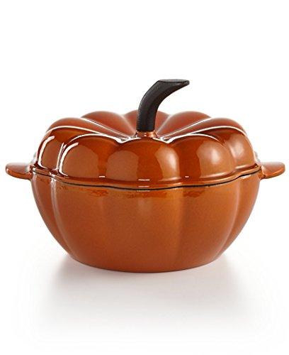 Martha Stewart Collection Enameled Cast Iron 2-qt. Pumpkin (Cast Iron Pumpkin)