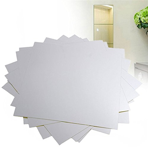 - Trenton Creative Removable Square Mirror Surface Effect Wall Stickers - 16