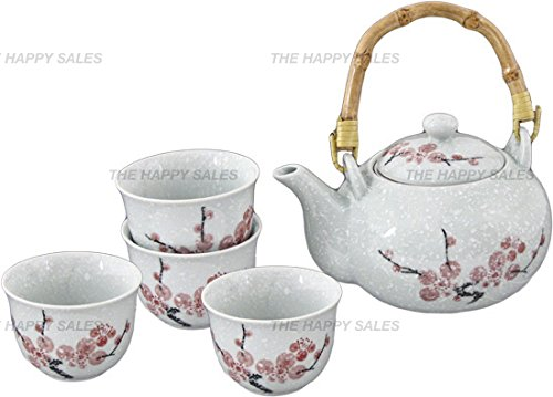Happy Sales Pink Cherry Blossom Porcelain Tea Set Cherry Blossom Porcelain