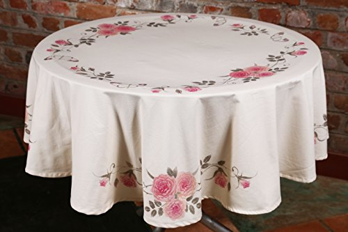 Table Cloth, Round 60 inches, 100% Cotton Tablecloth, Machine Washable clothes, Unique Design Romeo & Juliet by (60 Inch Round Tablecloths)