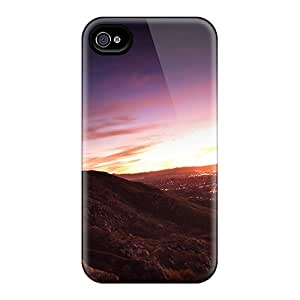 Iphone Case - Tpu Case Protective For Iphone 4/4s- Sunset Mountains