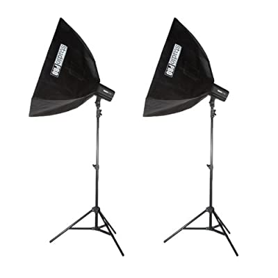 StudioPRO Double 400W/s Monolight Flash Photography Photo Studio Strobe Lighting Two 200W/s Monolights with Softboxes from StudioPRO