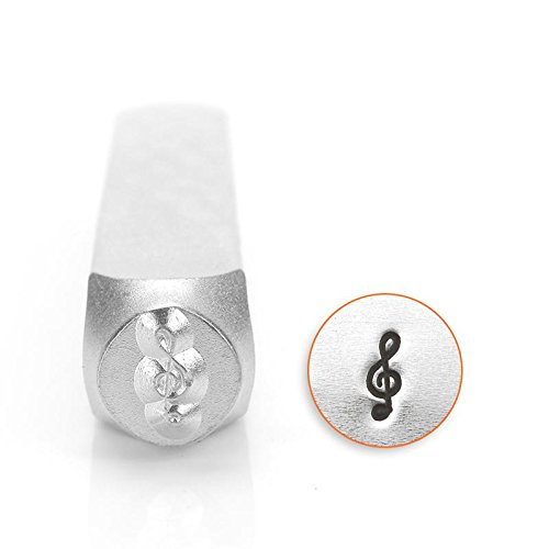 ImpressArt - 6mm, Treble Clef Metal Design Stamp, Perfect for Handmade Jewelry Making, DIY Crafts, and Personalized Gifts