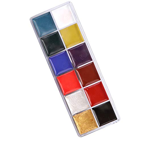 Baosity 12 Colors Face Paint Kit – Body Paint – Non-Toxic – Halloween Makeup Kit – Easy to Apply & Remove – Face Painting Kit for Kids & Adults for $<!--$9.99-->