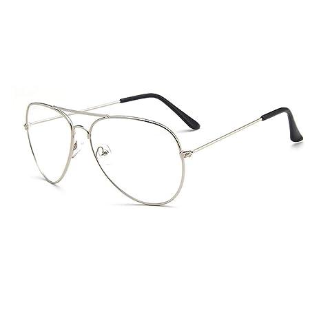 30419232b9a38f YUNCAT Metalique Cadre Frame Lunettes Vintage Verres Transparent Style  Aviateur Pilote Eyeglasses pour Homme et Femme