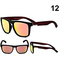 ZOZOE Uv400 Protection Polarised Mens Sports Sunglasses for Cycling Running Baseball Fishing Driving Unbreakable Rectangle Frame HD Lens Fashion for Outdoor Driving Cycling