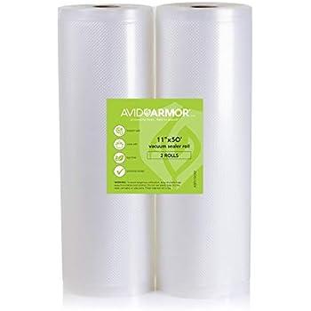 Amazon Com 11x50 Vacuum Sealer Bags Roll 2 Pack For Food