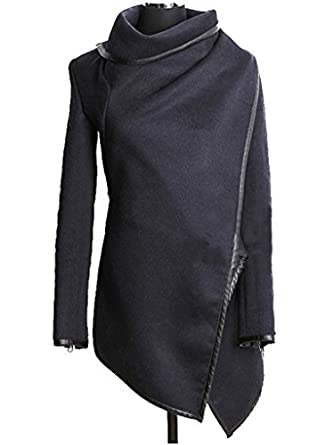 FANTIGO Womens Long Sleeve Slim Fit Wool Blends Trench Coat FTG230006