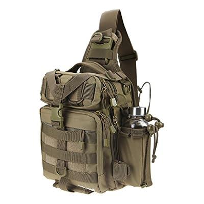 RUNATURE Fishing Bags Small Fish Tackle Bag Backpack Waterproof 11.6L Fly Fishing Sling Pack Tactical Single Shoulder Hunting Backpacks