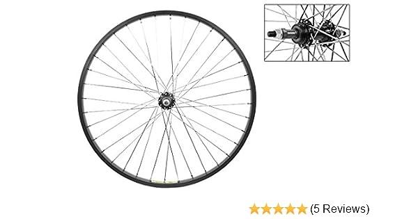 "Bicycle 26/"" x 1.75/"" Steel Rear Freewheel Wheel 36 Spoke 12g 3//8 Axel Chrome Bike"