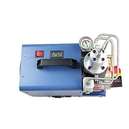 Bomba de aire de alta presión 30 m 300 bar, 4500 psi Compresor de aire eléctrico de alta presión Refrigeración por agua de un solo cilindro para pruebas de ...