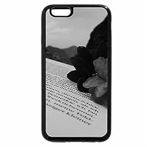 iPhone 6S Case, iPhone 6 Case (Black & White) - ..Bujori de mune..