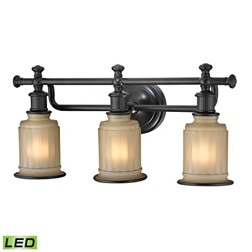 Acadia 3 Light Chandelier - Acadia Collection 3 light bath in Oil Rubbed Bronze - LED, 800 Lumens (2400 Lumens Total) With Full Scale Dimming Range, 60 Watt (180 Watt Total)Equivalent , 120V Replaceable LED Bulb Included.