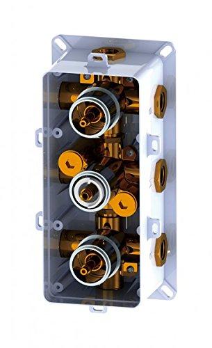 Mitigeur de douche thermostatique /à encastrer avec inverseur 6 voies 6 fonctions UP11-01
