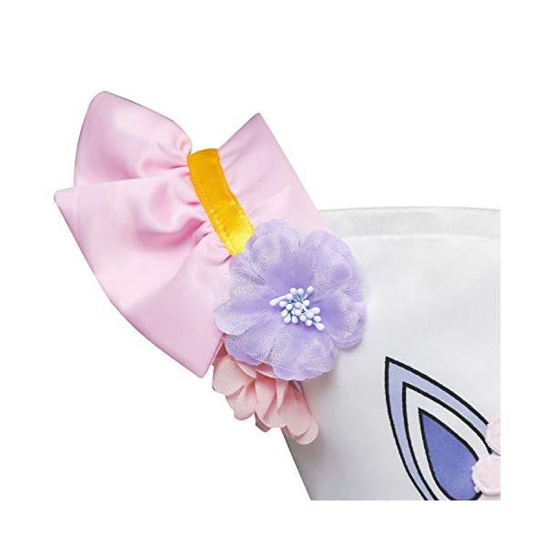 Cotrio Unicorn Costume Fancy Dress Up Flower Girls Dresses Pageant Party Evening Gowns Halloween Tutu Dress 7