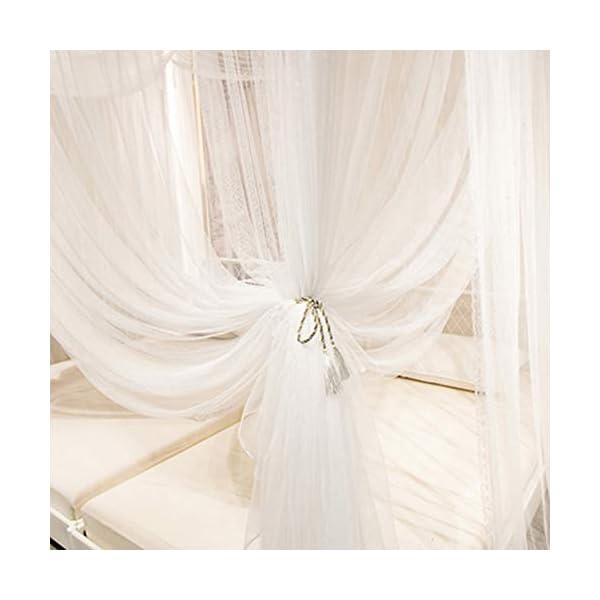 Bulawlly 4 Letto d'angolo Messaggio Tende, Tende per Lettino con zanzariera Tenda, Tenda Naturale in Cotone di Lettura… 5 spesavip