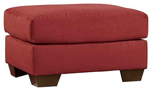 Ashley Furniture Signature Design - Darcy Ottoman - Ultra Soft Upholstery - Contemporary - Salsa ()