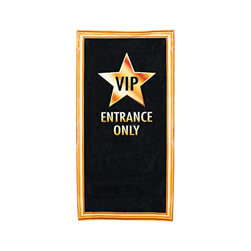 Fun Christmas Party Themes (Fun Express VIP Entrance Door Cover | 1 Count | Great for Birthday/Christmas/Halloween/Graduation Parties, Hollywood/Movie Night/Broadway)