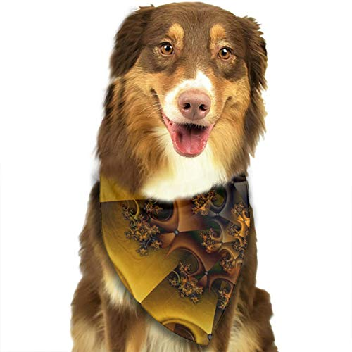WUGOU Dog Bandana Space Gold Pattern Cute Pet Pack Washable Triangle Bibs Scarfs Kerchief Set Accessories for Dogs and Cats